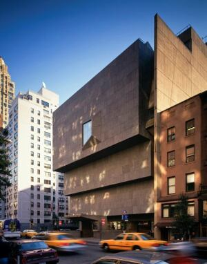 Marcel Breuer's Brutalist structure for the Whitney Museum of American Art on Madison Avenue.