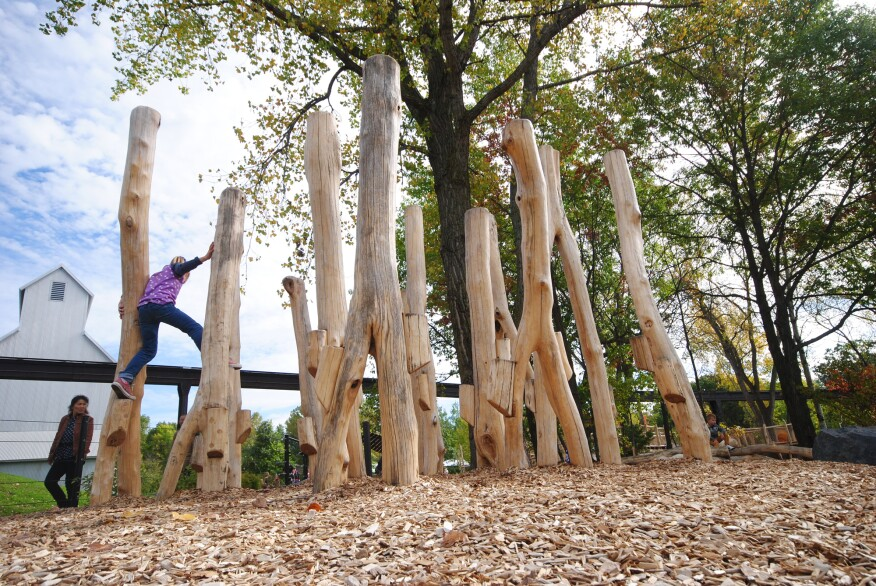 The Hanifil Famiy Wild Woods at the Minnesota Zoo, in Apple Valley, Minn., features WholeTrees' products.