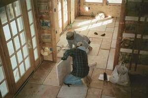 Laying a Stone Floor