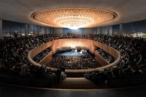 Auditorium with 1400 seats.