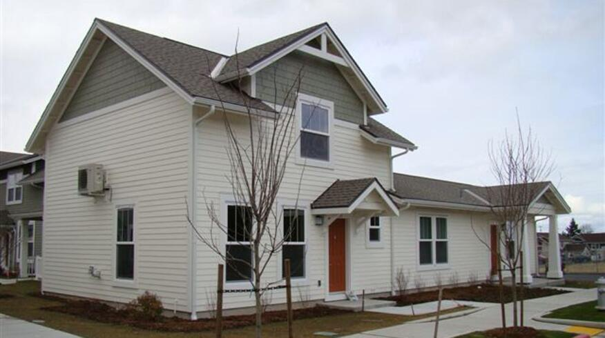 Attached housing in Salishan 7, the 10,000th residential project to achieve LEED certification.