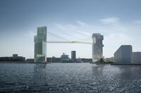 Copenhagen Gate: A Bike Lane Suspended Between Two Towers