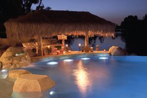 Swim up success custom home magazine designers design for Pool design with swim up bar