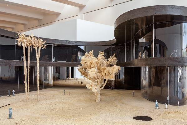 """The Presence of the Past: Peter Zumthor Reconsiders LACMA,"" installation view."