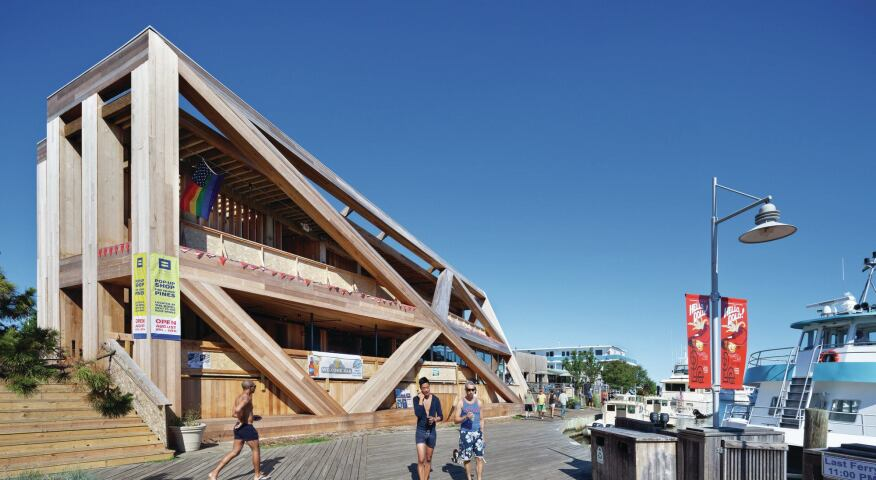 Fire Island Pines Pavilion.