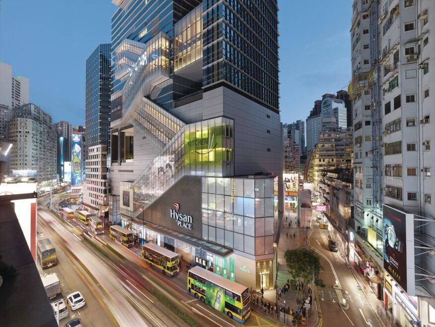 Located in busy Causeway Bay, Hysan Place is readily accessed by public transit.