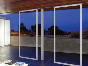 NanaWall's new HSW50 individual panel sliding system makes traditional walls virtually unnecessary. The thermally broken aluminum-framed system lets architects create walls of glass with no visual track on the floor and, according to the manufacturer, off