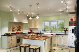 Green, Eclectic Kitchen Remodel Maximizes Limited Space