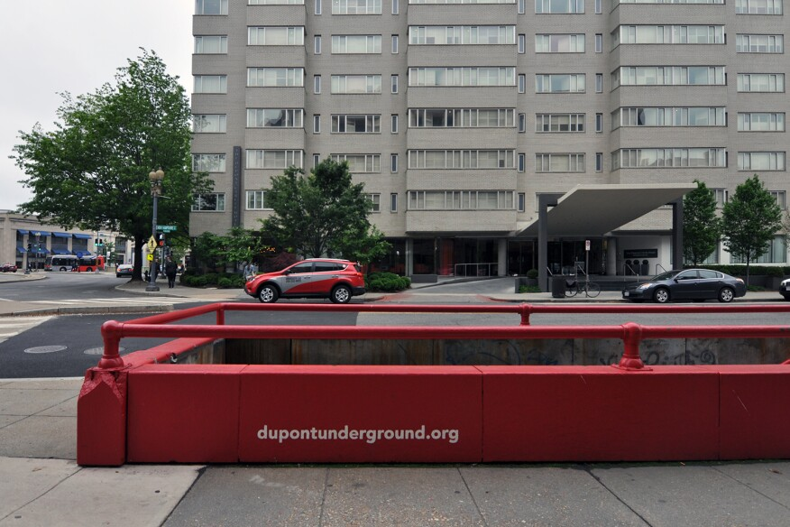 Ground-level entrance to Dupont Underground