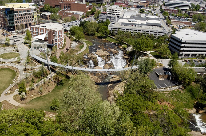 Falls park on the reedy architect magazine rosales Architects in greenville sc