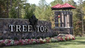 The entry sign for Lennar's Tree Tops active adult community in Van Wyck, S.C. Eighty of the community's 800 homes have sold.