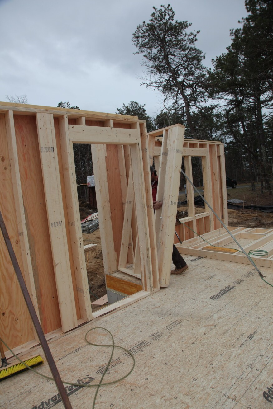 Building and raising exterior walls jlc online framing for Exterior framing