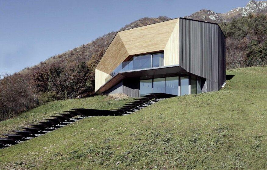 Accoya wood used in Italian Alpine villa
