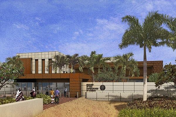 Rendering of U.S. Embassy in Nouakchott, Mauritania, designed by Arlington, Va.–based AECOM (design architect) and Spokane, Wash.–based Integrus Architecture (architect of record).
