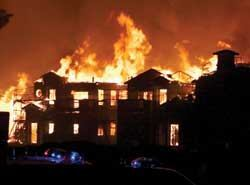 While it may seem counterintuitive, fires at non-high-rise buildings account for 98 percent of direct property damage and between 90 and 96 percent of apartment fires, according to the National Fire Protection Association.