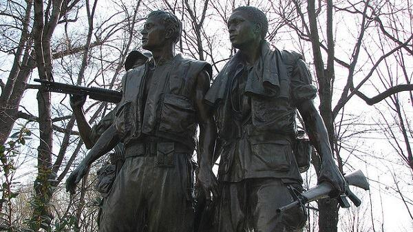 The Three Servicemen Statue.
