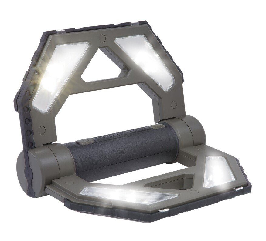 Might-D Light LED 140 Rechargeable Folding Worklight's innovative design supports a multitude of work positions