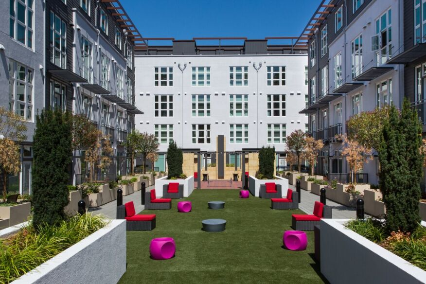 Apartment Building Courtyard modular grows as conventional building costs climb | multifamily