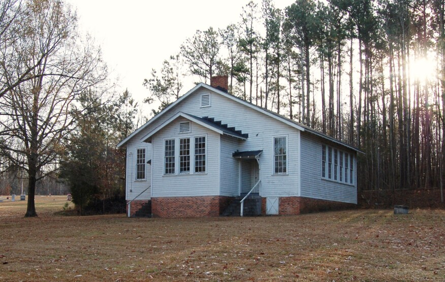 The Russell School in Durham County, N.C., constructed according Rosenwald's two-teacher plan