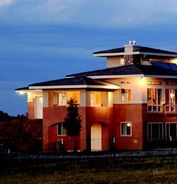 This all-concrete home was built by Tierra in the Colorado Springs area.