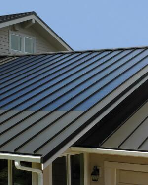 Custom-Bilt Metals' FusionSolar system integrates a thin-film solar laminate with a standing seam metal roof, resulting in a turnkey solution that it says is more affordable than traditional roof-mounted solar installations and will pay for itself in 10 years or less (in most cases). Roof panels come in 9-foot and 18-foot lengths with various kilowatt outputs, including 5, 10, 15, and 120. Custom-Bilt Metals, 800.826.7813;  www.custombiltmetals.com