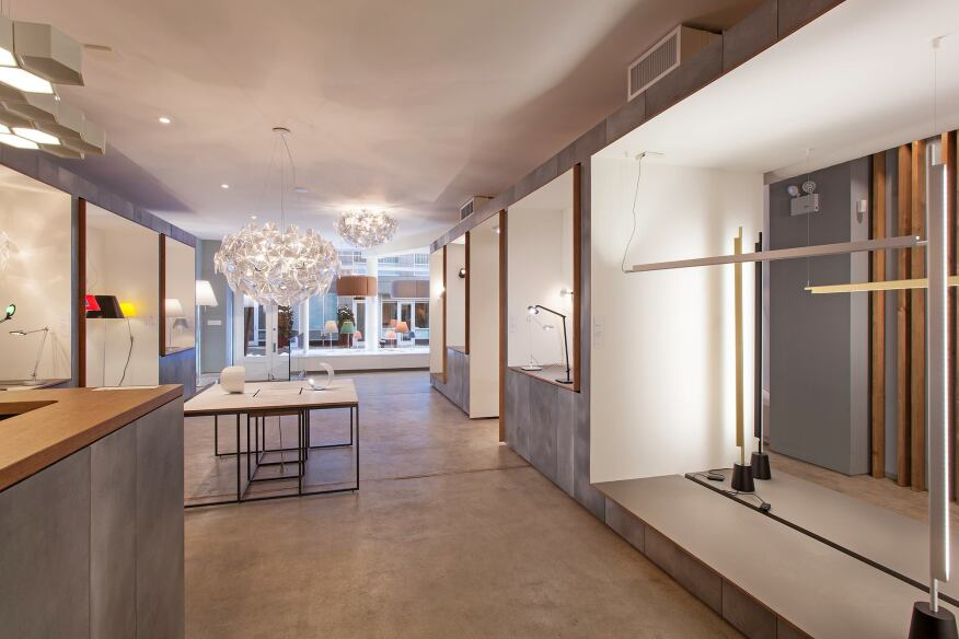 A view of the new showroom looking toward Wooster Street.