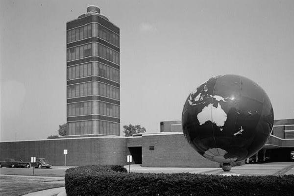 The S.C. Johnson Research Tower in 1969, 19 years after it opened.