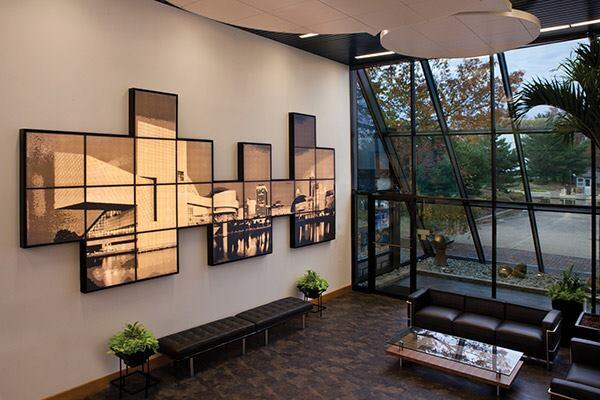 Why constrain artwork to a rectangle or square? Pixels Wall Mounted Panels from USG Corp. allow designers to create custom-size murals in modular shapes using photographs, brand logos, or simple geometries. Backlight the panels with LED light for a glowing effect. Pixels uses USG's Celebration Panels, which contain up to 90% recycled aluminum, and its Donn Fineline Suspension System. usg.com