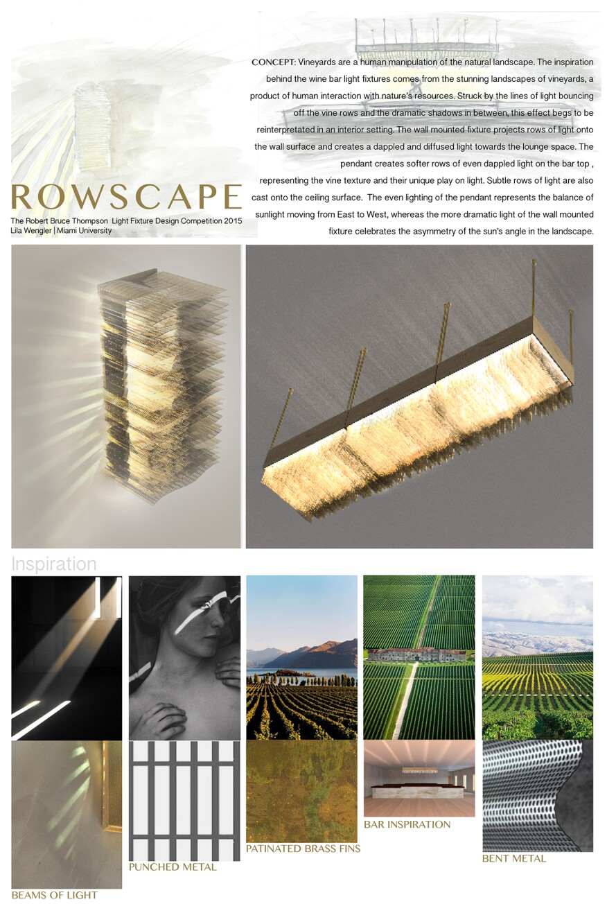 """Lila Wengler's 3rd place winning design called """"Rowscape."""""""