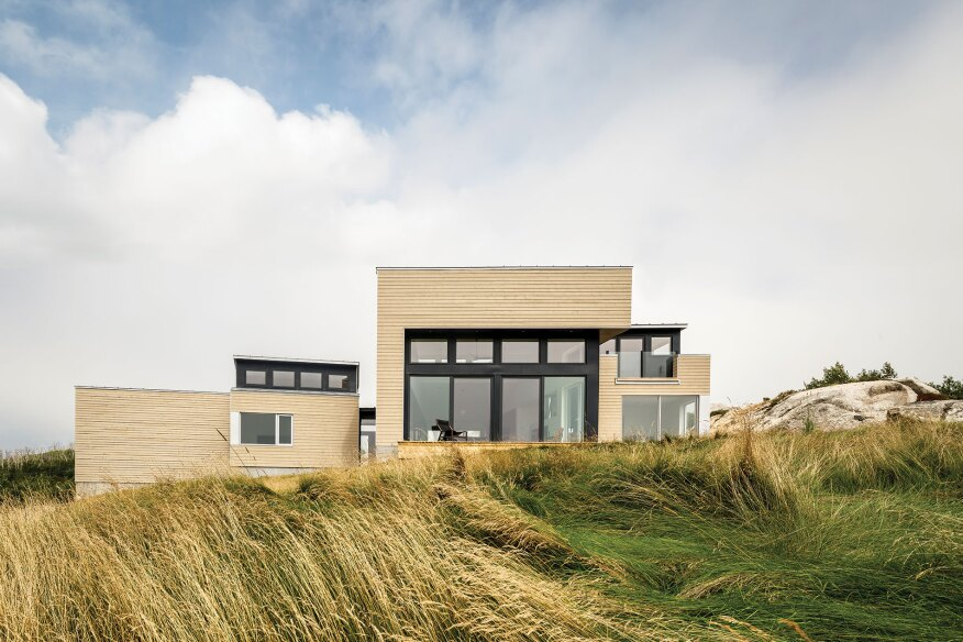Float's staggered rooflines reference varying degrees of bedrock tectonic movement.