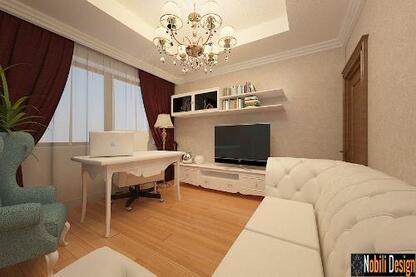 Design interior living clasic mobila italiana