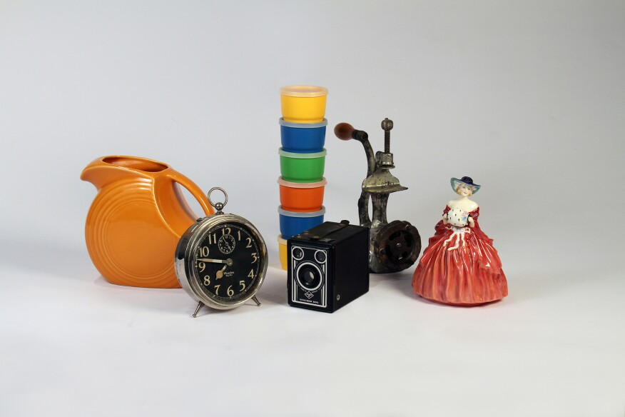 "A collection of objects donated to ""House & Home"" for the exhibition."