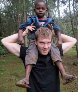 Daniel Wiens, founder of Journeyman International, with a friend in Haiti