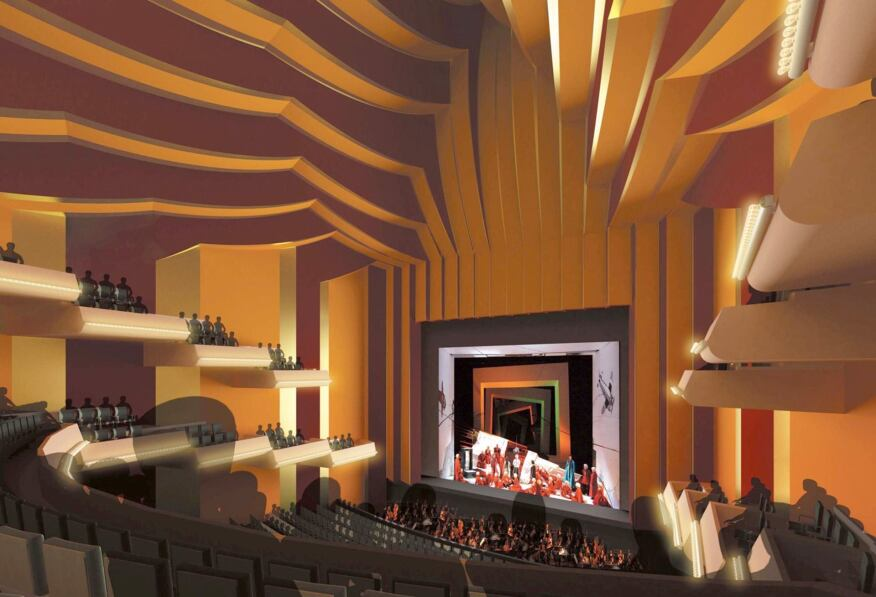 Rendering, opera theater interior