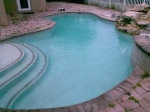 After and before: Pools from abandoned homes, seen above, often reach a state where they need acid washing. In some areas, these are the most common candidates for the process.