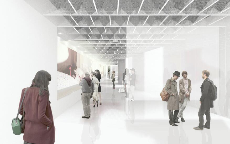 The redesign also features gallery space for exhibitions.