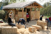 A Tiny House Built From Bales of Hay