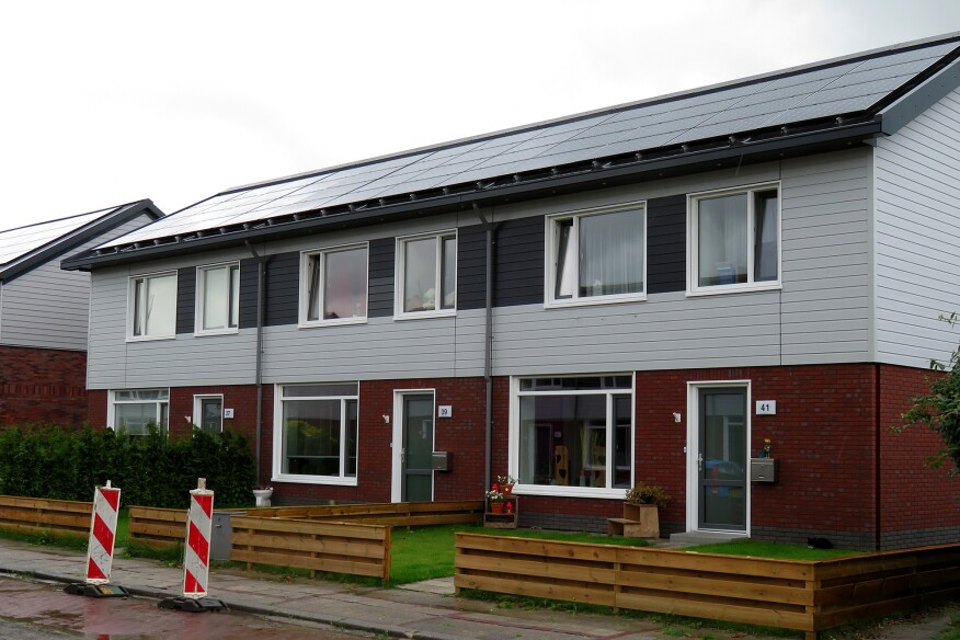 Another renovated building project as part of the Netherlands' Energiesprong initiative.