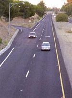 The county of Santa Clara, Calif., Roads and Airports Department won an Asphalt Pavement Alliance 2004 Perpetual Pavement Awards for a section of Central Expressway Units 3. Photo: APA
