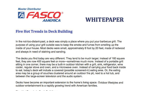 Five Hot Trends in Deck Building