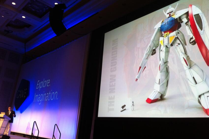 Futurist and artist Syd Mead talks about his design concept for the resurrected Turn A Gundam.