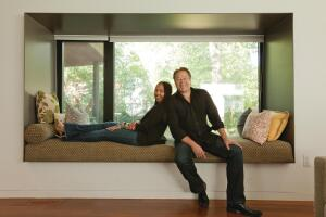 Marlon and Meryati Johari Blackwell at the home they designed for themselves and their two children in Fayetteville, Ark.