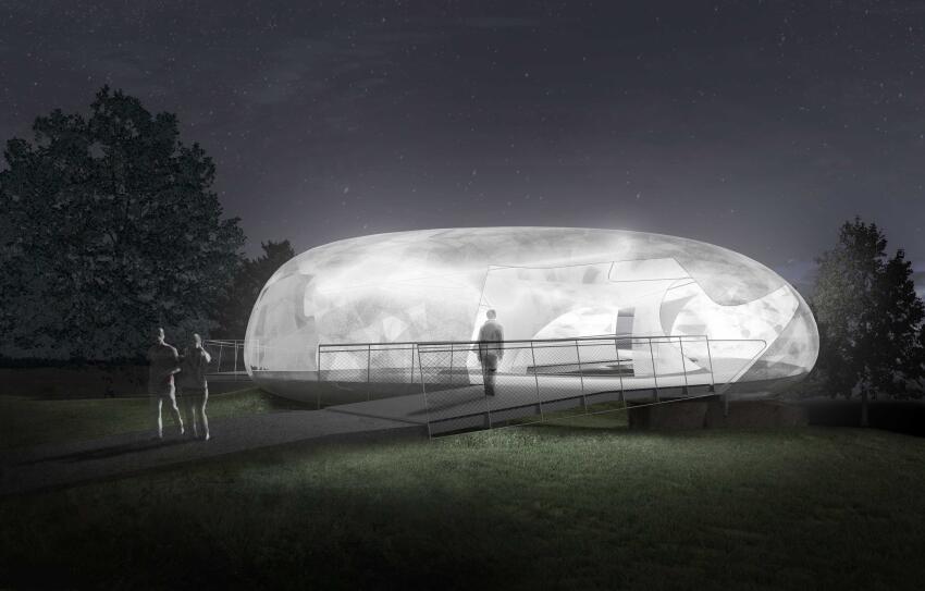 2014 Serpentine Gallery Pavilion - Indicative CGI, night