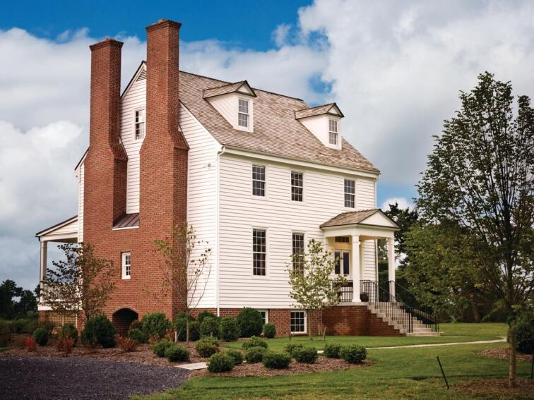 Custom Builder Tom Glass Moves and Rebuilds a 200-Year-Old House in Virginia