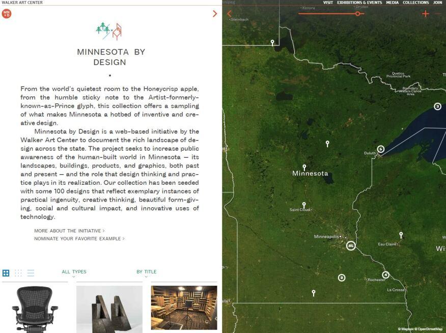 Screenshot of Minnesota by Design website.