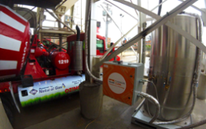 The CarbonCure system is installed at Ozinga's downtown Chicago concrete plant.
