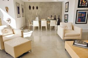 The polished concrete industry is still in its infancy compared to natural stone, carpet, linoleum, and other floor coverings, but its use in homes is increasing.