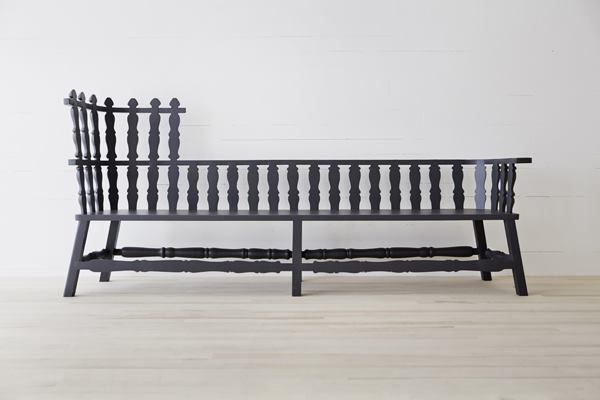 The Long Bench by Dutch designer Ineke Hans is characterized by its spacious seat and flat arms.