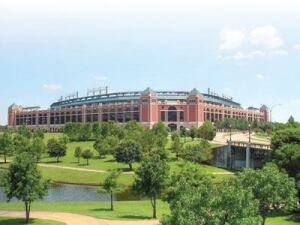 Entertainment giant of the Southwest:  That's what Arlington, Texas, has been called since   Rangers Ballpark (shown) debuted in 1994 as the centerpiece of a  270-acre complex. Folks heading to town for the Southwest Pool  and Spa Show in mid-February will find plenty of things to see  and do as well.
