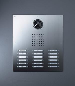 speak up  A well-designed multifamily project deserves a stylish door panel. Siedle-Classic by Broomall, Pa.–based SSS Siedle answers the call. The contemporary product is made from solid stainless steel and has a recessed application that is practically invisible and tamper-proof, the company says. Long-life LEDs illuminate the transparent buttons. The panel comes in burnished brass, brass look, anodized aluminum, and seven painted colors. SSS Siedle, 800.874.3353; www.siedleusa.com.